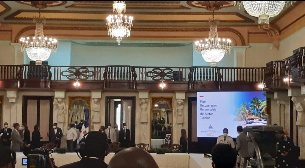 El Plan de recuperación del turismo fue lanzado en el Palacio Nacional