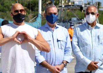 Vin Diesel y Luis Abinader en Puerto Plata