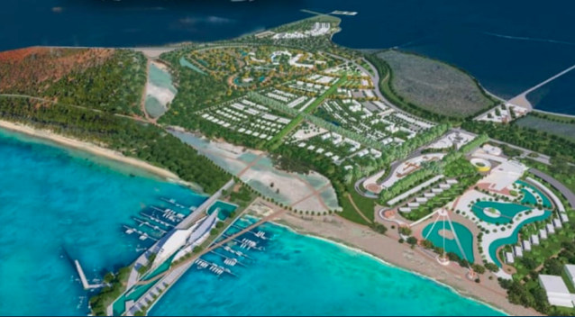 Maqueta del desarrollo del turismo en Pedernales